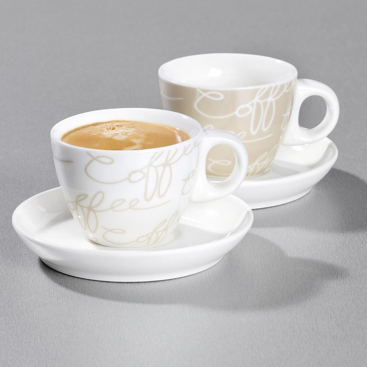 ritzenhoff breker espresso set cornello 4 teilig creme 80ml k che haushalt. Black Bedroom Furniture Sets. Home Design Ideas