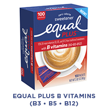 Equal PLUS with B vitamins