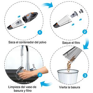 Aspiradora Vertical, Aspiradora Escoba Hogar,12000Pa, Aspirador ...