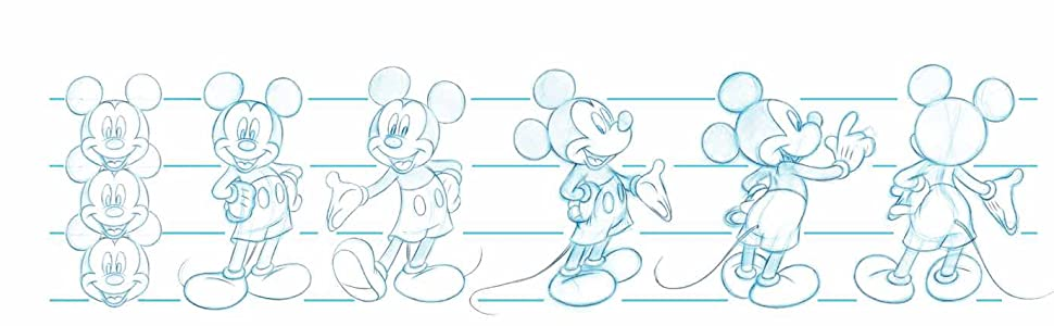 Disney Mickey And Friends Mickey Mouse Simple Outline Langarmshirt