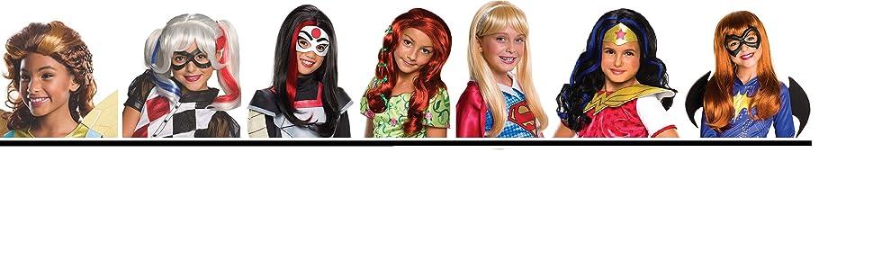 American comics wig Marvel DC super hero Halloween Cosplay hair anime full wig