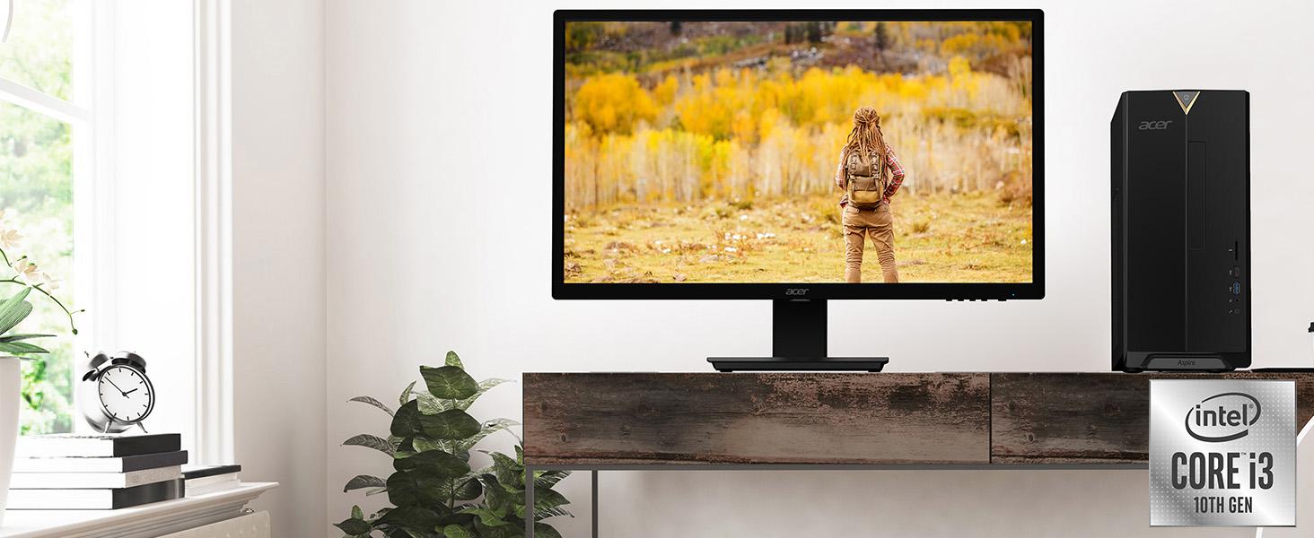 Amazon Choice Acer TC-895 10th Generation Core i3-10100 Desktop WiFi 6 SSD USB 3.2