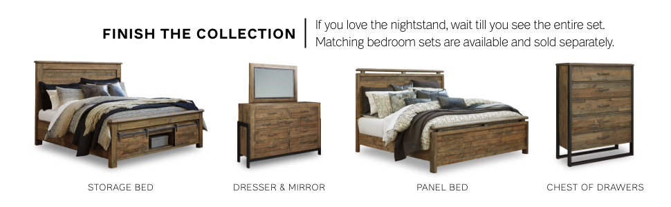 storage panel bed dresser mirror 5 chest of drawers rustic contemporary industrial design
