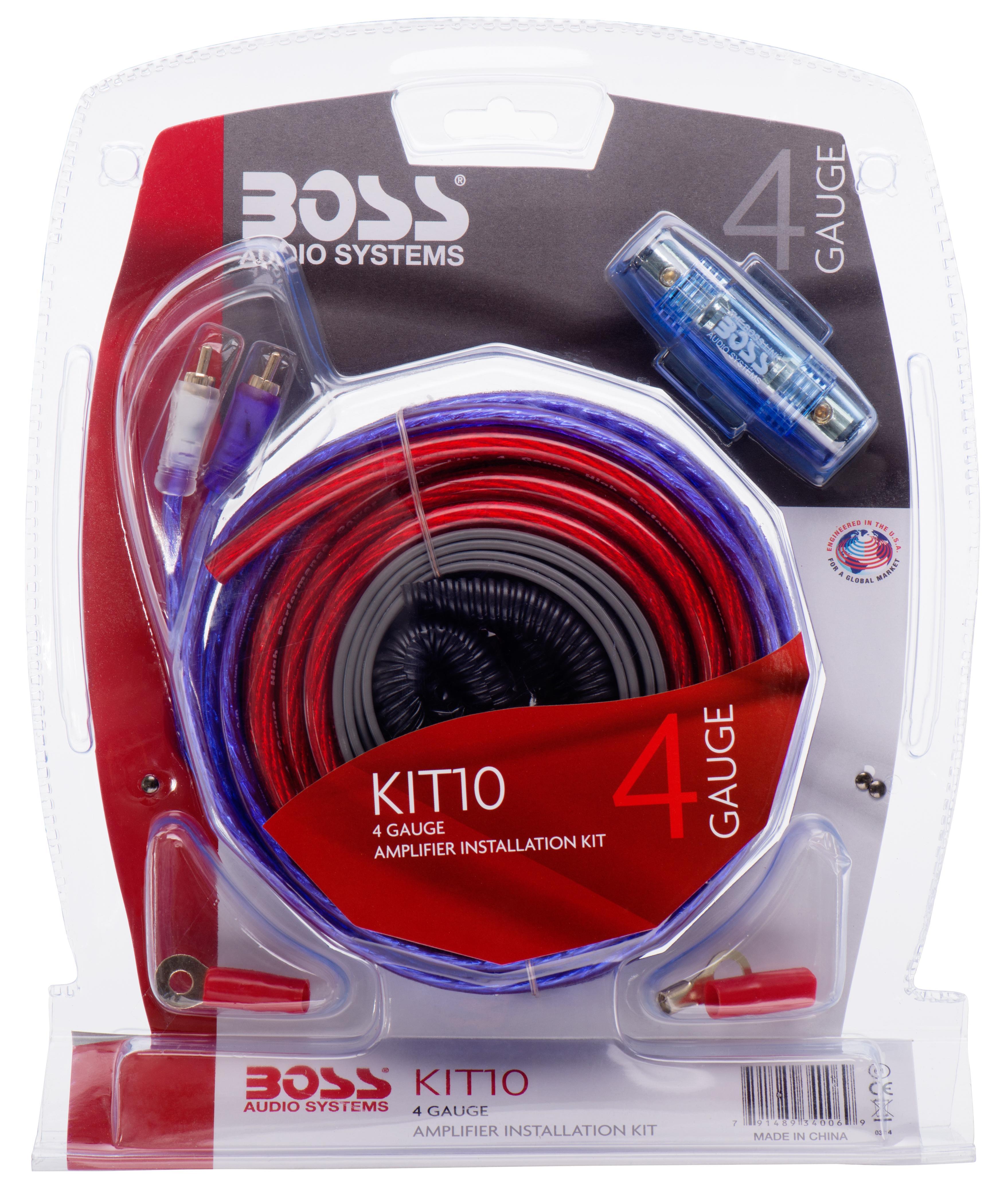 Amplifier Kits Kit10 Boss Car Audio 4 Gauge1100watt 1600w Channel Digital Bridgeable Pro Kit