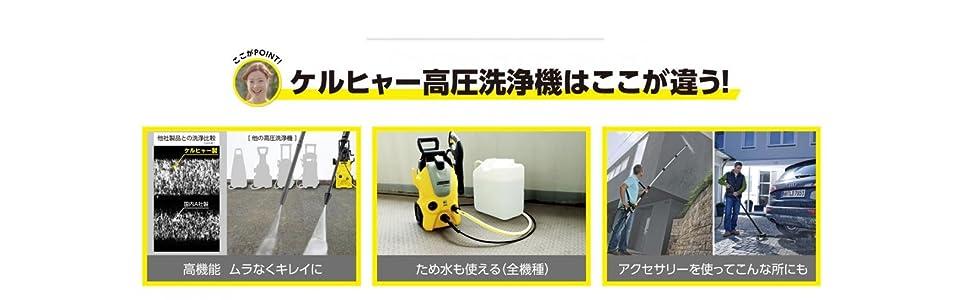 ケルヒャー KARCHER 高圧 洗浄機 サイレント ベランダ k3 K3