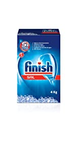 Finish Sal para Lavavajillas, 2 kg: Amazon.es: Salud y cuidado ...