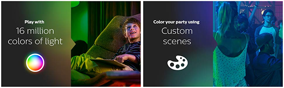 Smart lighting, custom scenes, color light