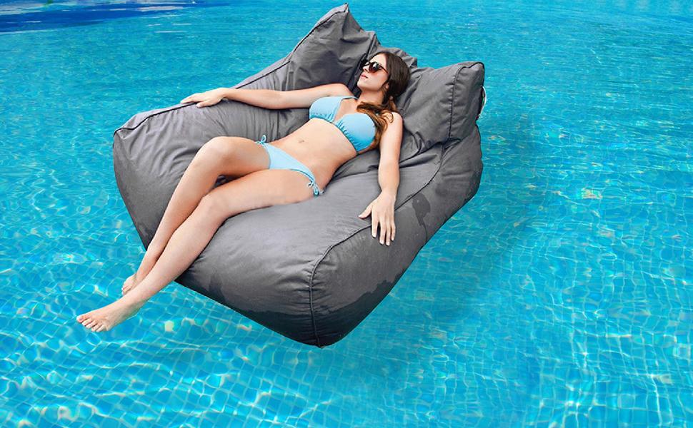 General Design Big Design Pouf Waterproof, Bleu: