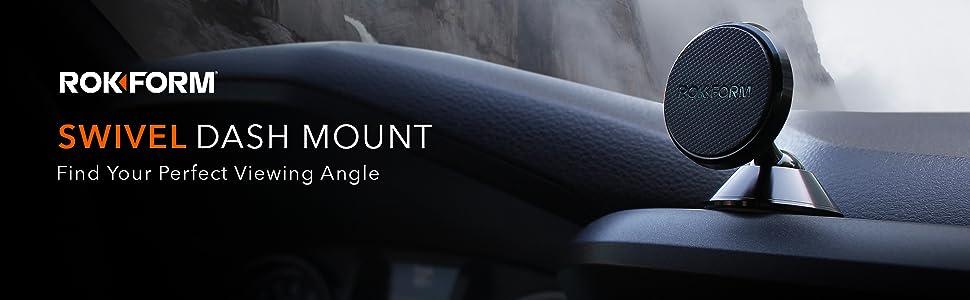 Rokform car mount, car dash mount, auto dash mount, magnetic dashboard mount, phone mount car dash