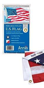 Annin Annin Flagmakers American US nylon outdoor Nyl-Glo flag