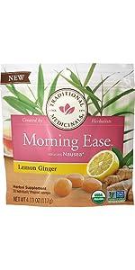 Traditional Medicinals Lemon Ginger Morning Ease Anti-Nausea Lozenges