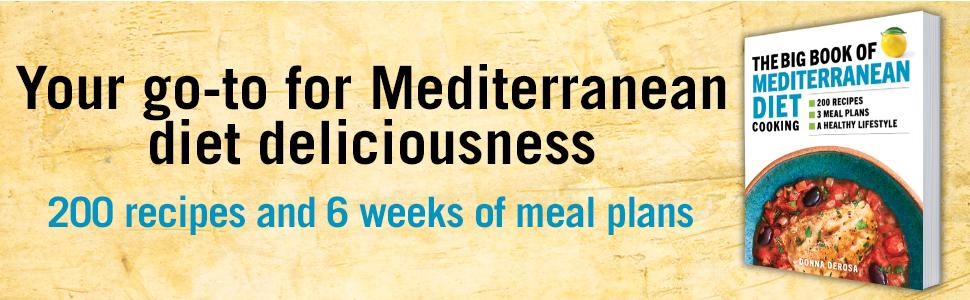 Mediterranean diet,complete Mediterranean cookbook,Mediterranean diet cookbook