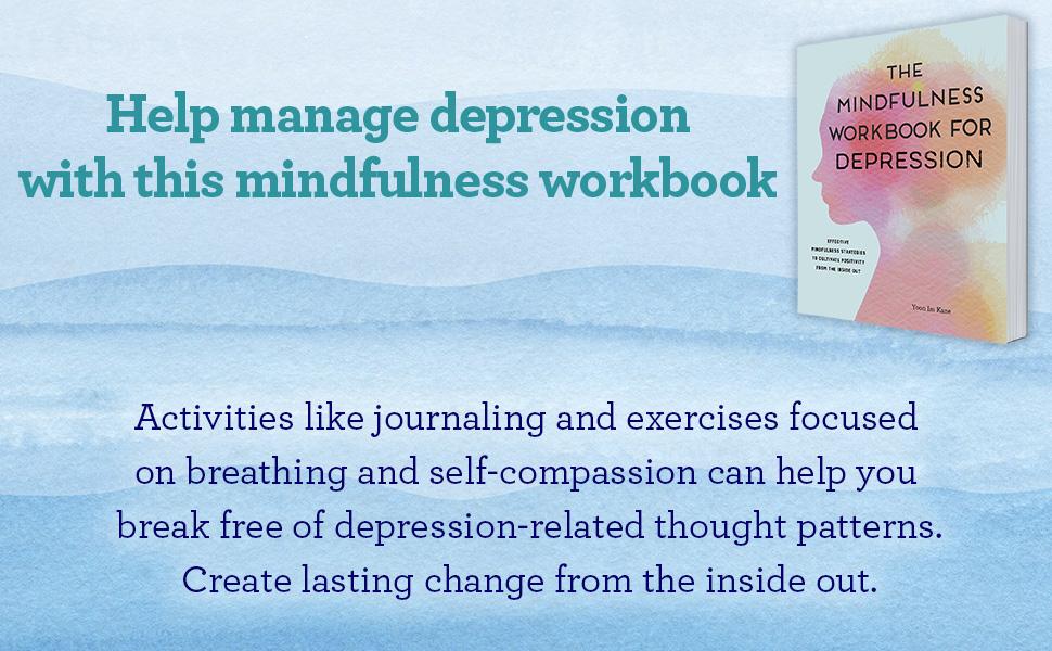 mindfulness workbook, depression workbook, mindfulness journal, self compassion