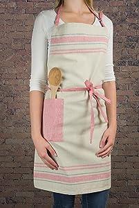 stripe apron, kitchen apron, women apron, farmhouse apron, cooking apron, baking apron