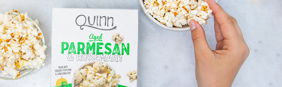 Aged parmesan rosemary organic microwave popcorn non-gmo real ingredients, pour shake flavor pouches