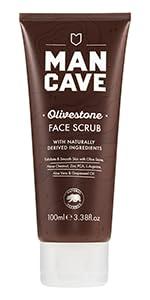 mancave olivestone face scrub