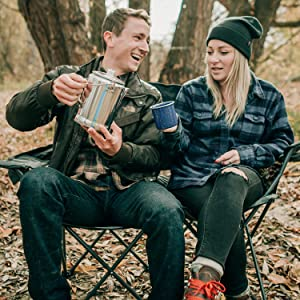 camping backpacking fishing travel coffee