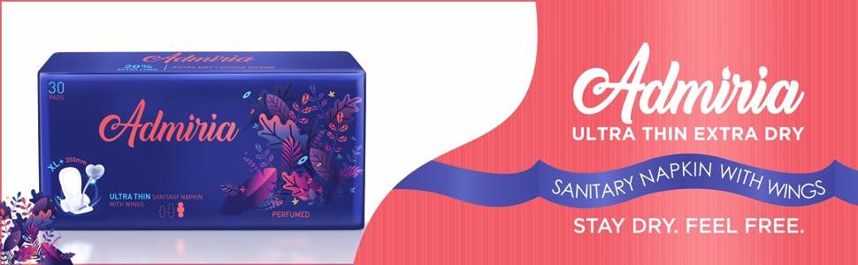 Admiria Ultra Thin Extra Dry XL+ Sanitary Pad