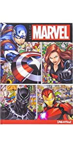 Spider-man, Guardians of the Galaxy, Thor, and Ant-man 4-Book Look and Find Set