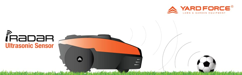 Yard Force New Compact 280R koos proaktiivse ohutustehnoloogiaga iRadari ultrahelianduriga