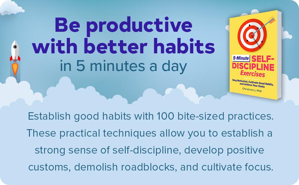 Self discipline, inspirational books, self help books, personal development books
