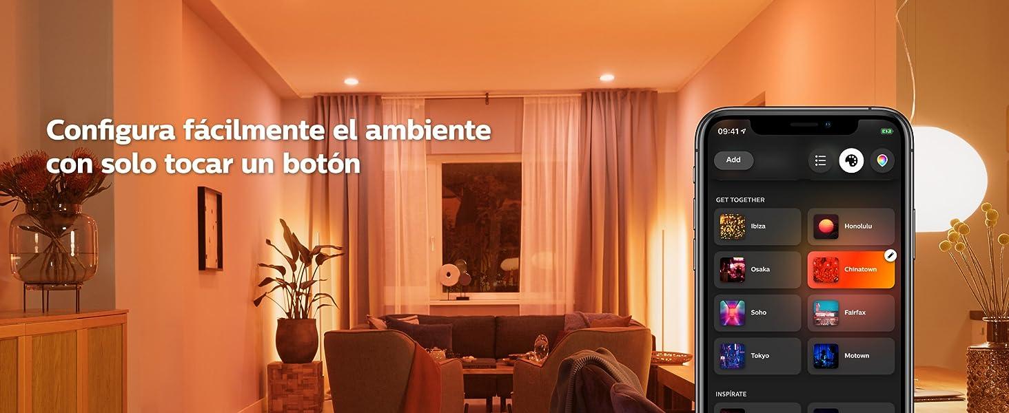 Bombillas Bluetooth LED Hue luz blanca y color