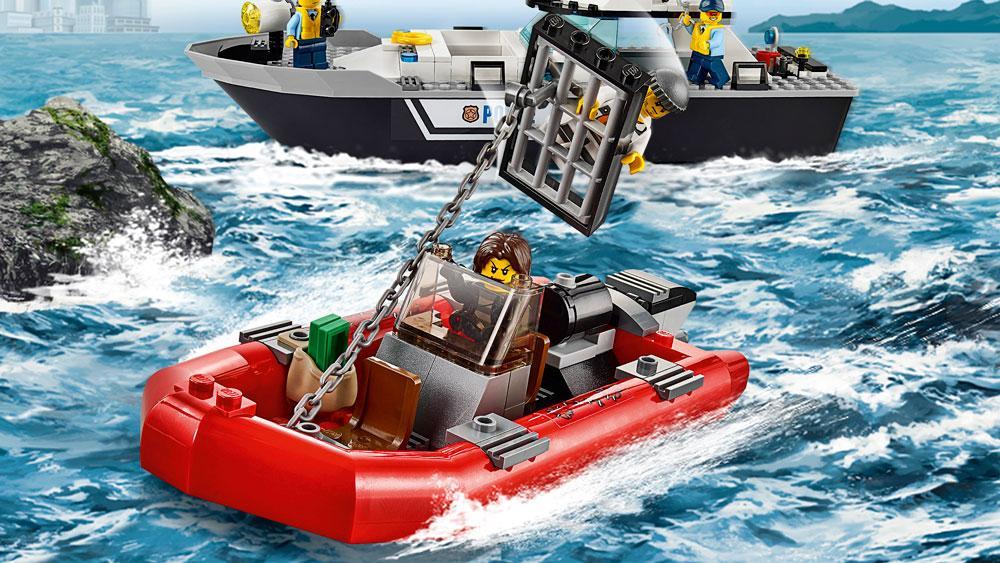 LEGO City Police Patrol Boat 60129 Building Toy, Building ...