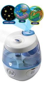 Humidificateur Vicks VUL575 Sweetdreams avec Projecteur dImages Protec TWT001EU Accessoire Antibact/érien pour Humidificateur