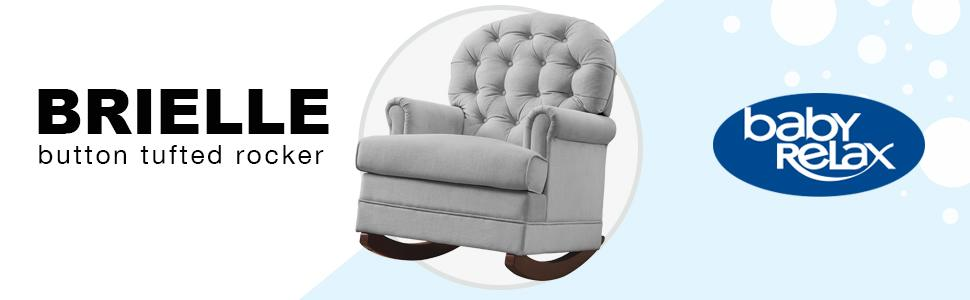 Amazon Com Baby Relax Brielle Button Tufted Rocker Chair Gray Baby
