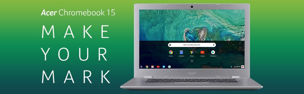"Acer Chromebook 15 CB315-1HT-C4RY Intel Celeron N3350 Full HD 15.6"" Touch DDR4 Chrome 802.11ac"