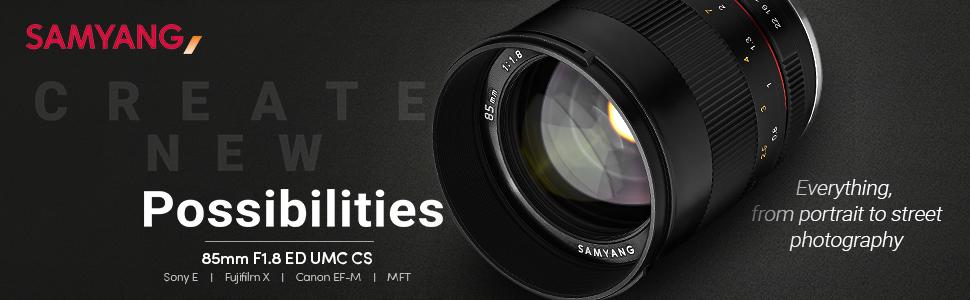 Samyang Mf 85mm F1 8 Ed Umc Cs Fuji X Manuelles Kamera