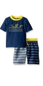 df241cba923f6 Baby Boys Rashguard Swimsuit Sets · Full Body UVP 50+ Swim Coverall,  Toddler and Little Boys Swimsuit Sets, Baby Boys Swim Shirt and Diaper  Cover Sets ...