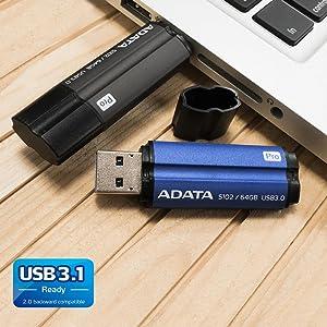 AS102P-1 Speed Up to 100MB//s ADATA 128GB S102 Pro Advanced USB 3.0 Flash Drive