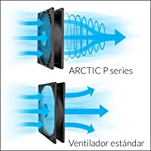 ARCTIC P12 PWM PST CO – 120 mm Ventilador de Caja para CPU con PWM Sharing Technology (PST), Motor Muy Silencioso ...