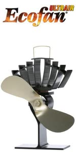 ecofan, eco fan, wood stove fan, heat powered fan, caframo, wood blower, stove fan, UltrAir 810