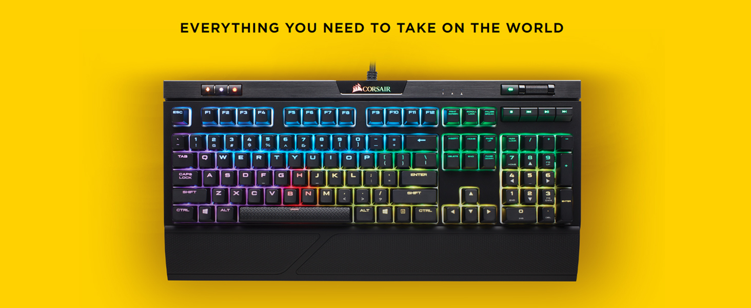 Corsair K70 RGB MK 2 Low Profile Rapidfire Mechanical Gaming Keyboard  (Cherry MX Speed Switches: Linear and Rapid, Per Key Multi-Colour RGB
