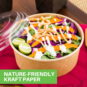 Choose from paper food containers to be used as a lunch box or bento box for serving food.