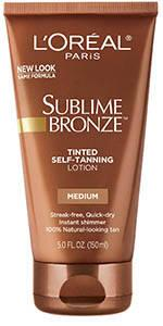 self tanner, tinted lotion