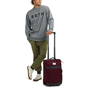 42cbc3ae23 Burton Compact, Lightweight Overnighter Roller Travel/Luggage Bag, Carry-On  Size