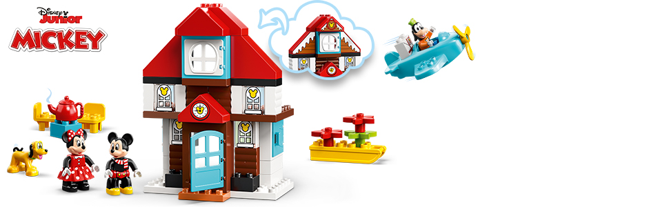 LEGO Duplo Disney 10889 - Mickys Ferienhaus, Bauset