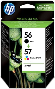 HP ,56, Black/,57 ,Tri-,color ,2-pack ,Original ,Ink ,Cartridges ,SA342AE