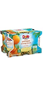 Dole Juice, Pineapple Orange Blend, 6 Ounce Cans