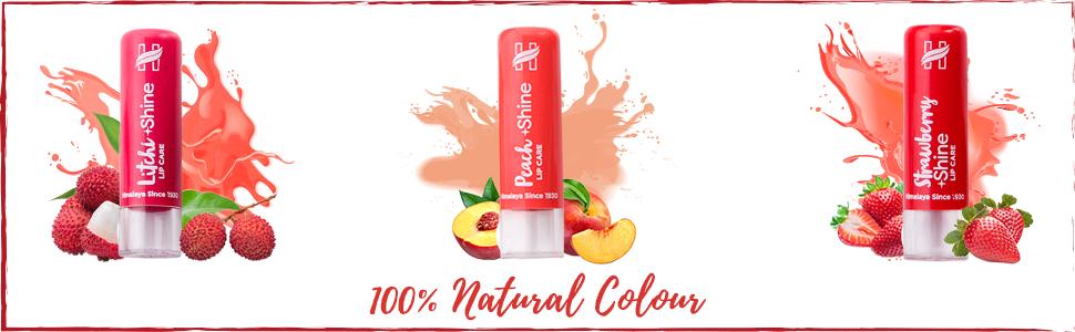 100% natural colour lip care