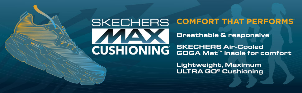 Skechers Max Cushioning air cooled goga mat ultra go comfort