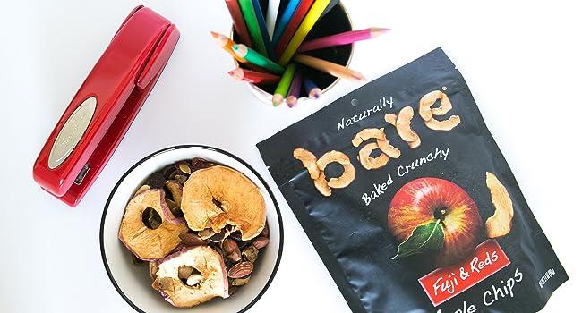 bare snacks apple banana coconut fruit chips