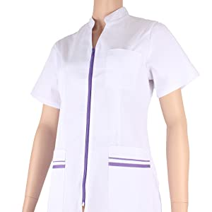 Ref.702 Abbigliamento di Lavoro Signora Maniche Corte Uniforme Clinica Ospedale Pulizia Veterinario IGIENE OSPITALIT/Á MISEMIYA