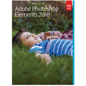 kid on the grass, cover of the adobe photoshop 2018 box