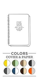 Side Spiral notebook, side spiral notepad, all weather notebook, weatherproof notebook, side spiral