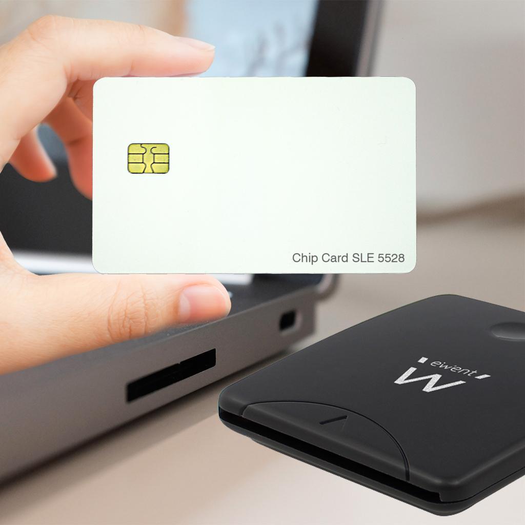 ewent ew1052 usb chipkartenleser smartcard reader computer zubeh r. Black Bedroom Furniture Sets. Home Design Ideas