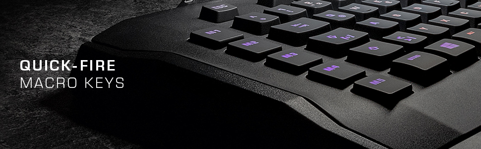 ROCCAT Horde Aimo - Membranical RGB Gaming Keyboard, Aimo LED Illumination,  Improved Island Key Layout, Quick-Fire Macro Keys, Configurable Tuning